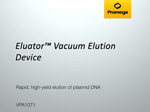 Eluator Vacuum Elution Device Video
